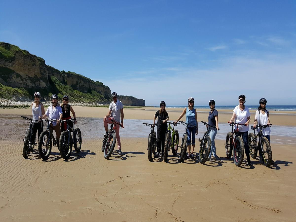 Location Fat Bike sur Omaha Beach