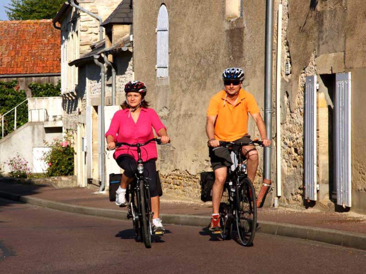 Itinéraire vélo Arromanches <>  Port-en-Bessin <> Bayeux