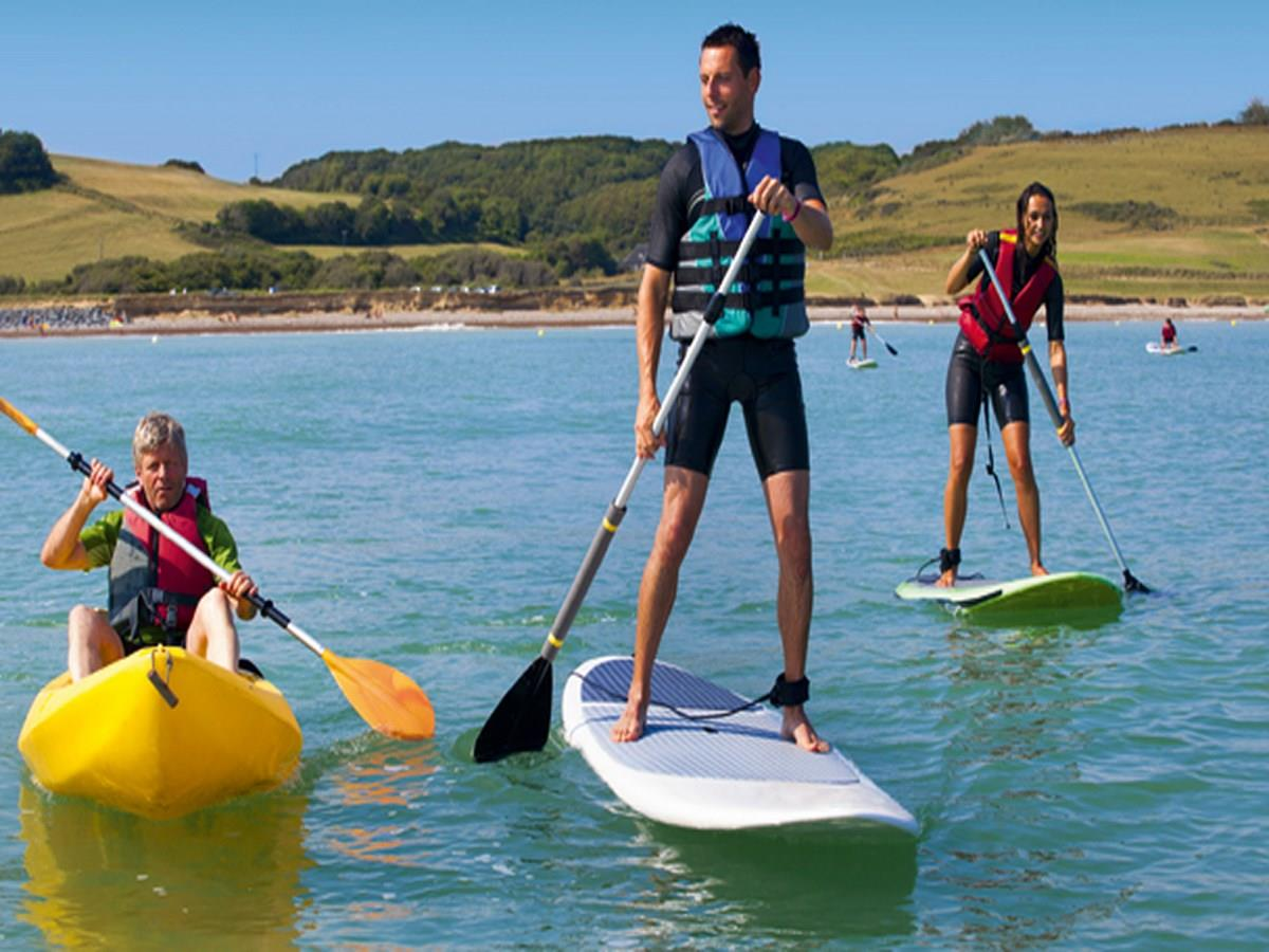 Stand up paddle sur Omaha Beach