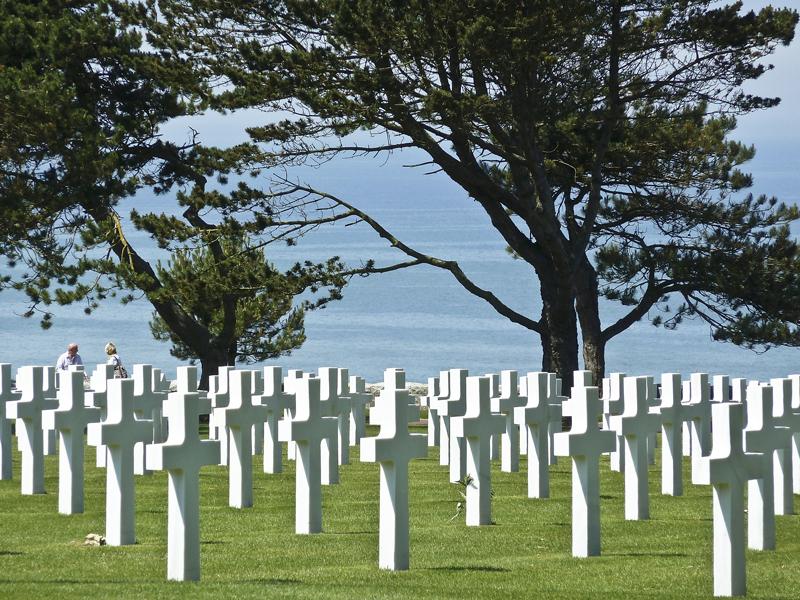 Vue sur la plage, cimetière américain de Colleville - ©W. Buedel
