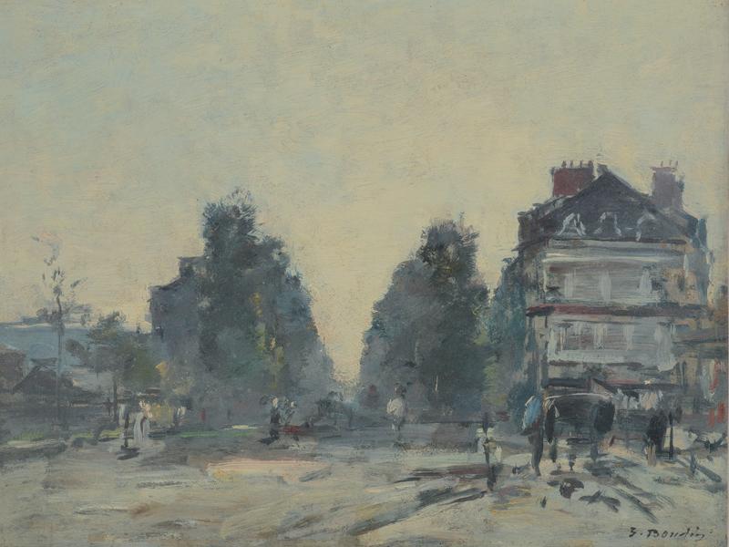 Peindre en Normandie - ©Eugène Boudin, L'avenue de Villers à Deauville nouvellement avenue de la République