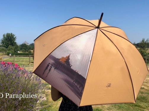 mont saint michel final embroidered umbrella