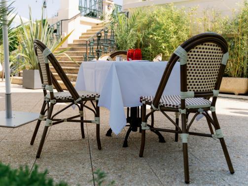 Le Brummel - die Terrasse
